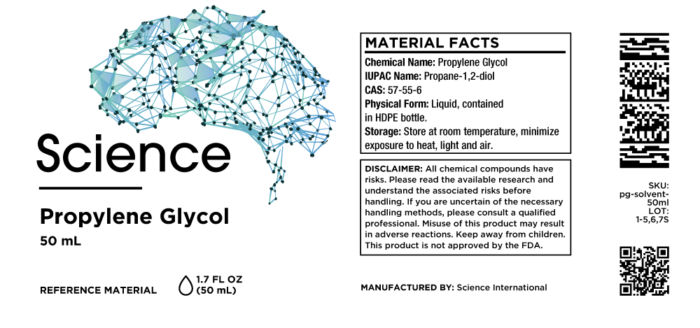 Propylene Glycol – Solvent, 50mL