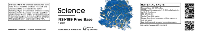 NSI-189 Free Base – Powder, 1g