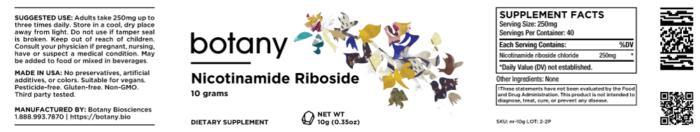 NR (Nicotinamide Riboside) Chloride – Powder, 10g