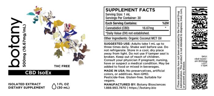 CBD Isolate (THC-Free) – Oil