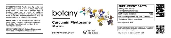 Curcumin Phytosome (Soy Free) – Powder, 50g