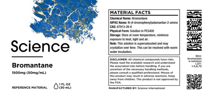 Bromantane – Solution, 1500mg (50mg/mL)