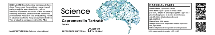 Capromorelin Tartrate – Powder, 1000mg