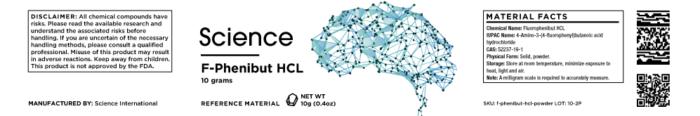 F-Phenibut (Fluorophenibut) HCL – Powder, 10g