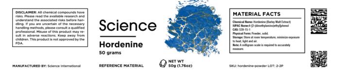 Hordenine (Barley Malt Extract) – Powder, 50g