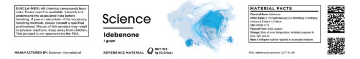 Idebenone – Powder, 1g