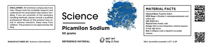 Picamilon Sodium – Powder, 50g