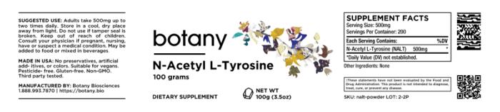 N-Acetyl L-Tyrosine (NALT) – Powder, 100g