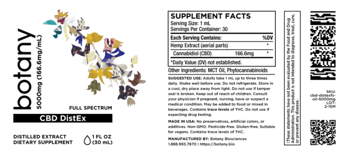 CBD DistEx Oil (Full Spectrum)