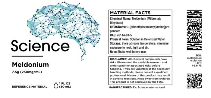 Meldonium (Mildronate Dihydrate) – Solution, 7.5g (250mg/mL)