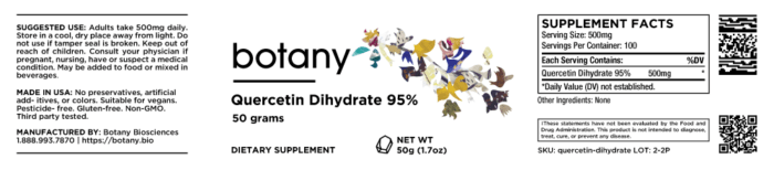 Quercetin Dihydrate 95% – Powder, 50g