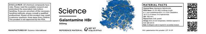 Galantamine HBr – Powder, 500mg