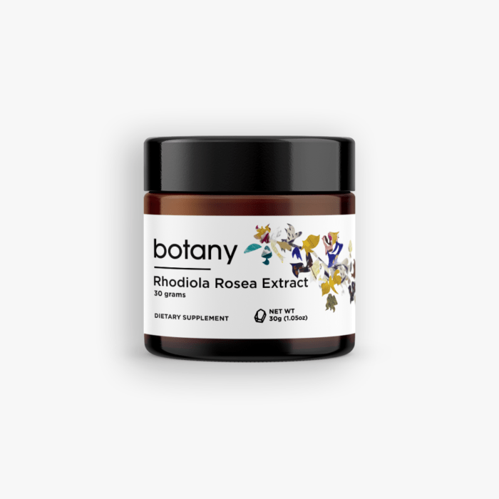 Rhodiola Rosea Extract | 5% Rosavin, 3% Salidroside – Powder, 30g