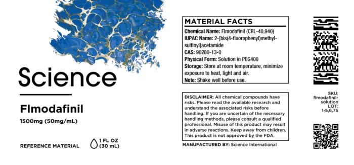 Flmodafinil (CRL-40,940) – Solution, 1500mg (50mg/mL)