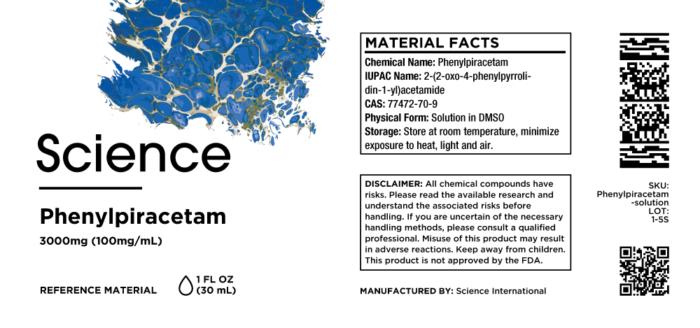 Phenylpiracetam – Solution, 3000mg (100mg/mL)