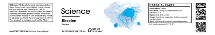 Ebselen – Powder, 1g