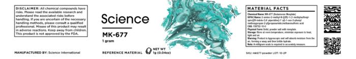 MK-677 (Ibutamoren Mesylate) – Powder, 1g