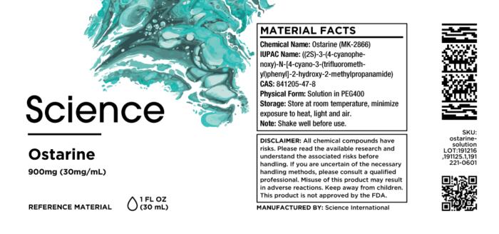 Ostarine (MK-2866) – Solution, 900mg (30mg/mL)