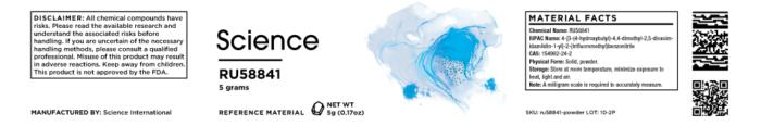 RU58841 – Powder, 5g