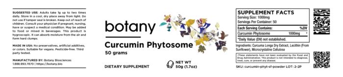 Curcumin Phytosome (Soy Free)   18%+ Curcuminoids – Powder, 50g
