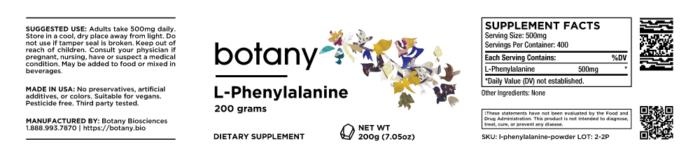 L-Phenylalanine – Powder, 200g