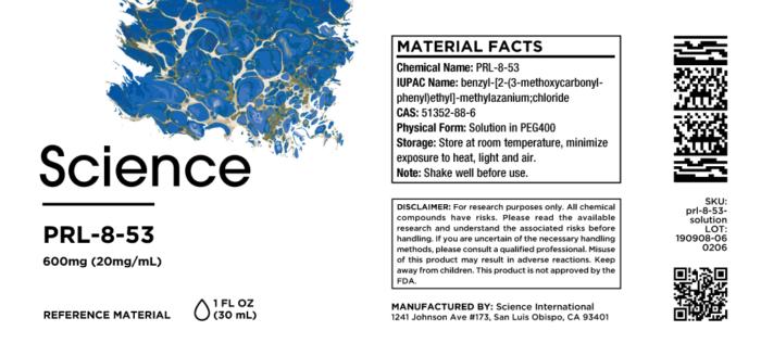 PRL-8-53 – Solution, 600mg (20mg/mL)