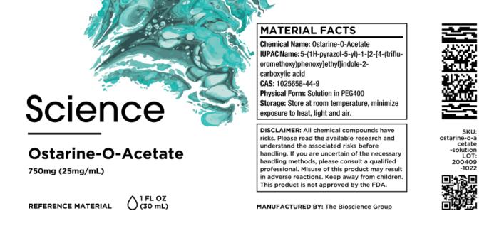Ostarine-O-Acetate – Solution, 750mg (25mg/mL)