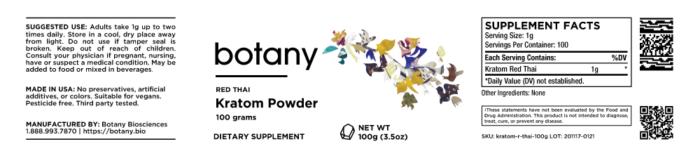 Kratom Red Thai – Powder