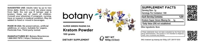 Kratom Super Green Maeng Da – Powder