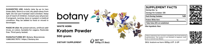Kratom White Horn – Powder