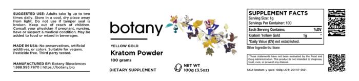 Kratom Yellow Gold – Powder