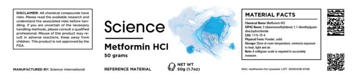Metformin HCl – Powder, 50g