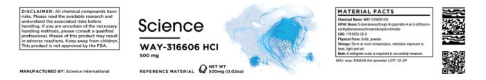 WAY-316606 HCl – Powder, 500mg