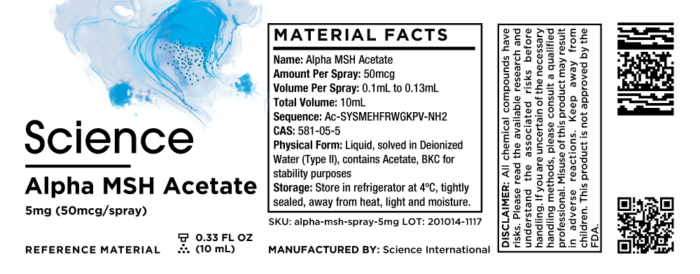 Alpha MSH Acetate – Spray, 5mg (50mcg/spray)