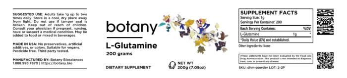 L-Glutamine – Powder, 200g