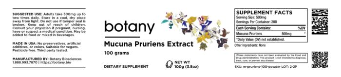 Mucuna Pruriens Extract | 30% L-DOPA – Powder 100g