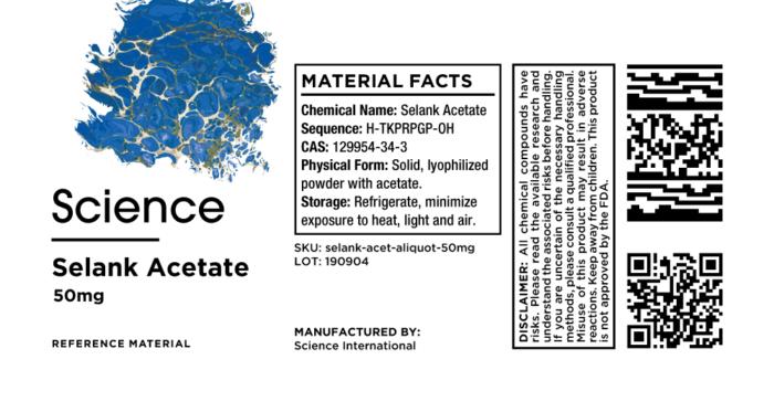 Selank Acetate – Aliquot, 50mg