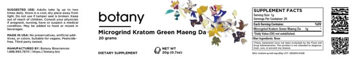 Kratom Green Maeng Da – Microgrind Powder