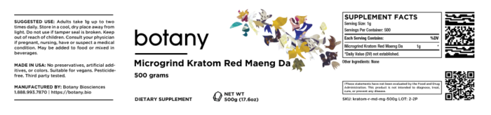 Kratom Red Maeng Da – Microgrind Powder