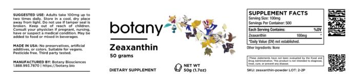 Zeaxanthin – Powder, 50g